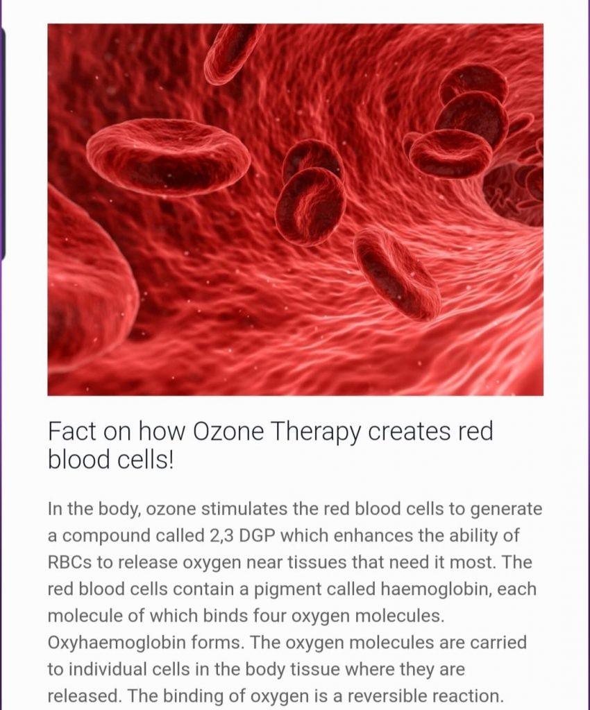 ozone therapy creates red blood cells